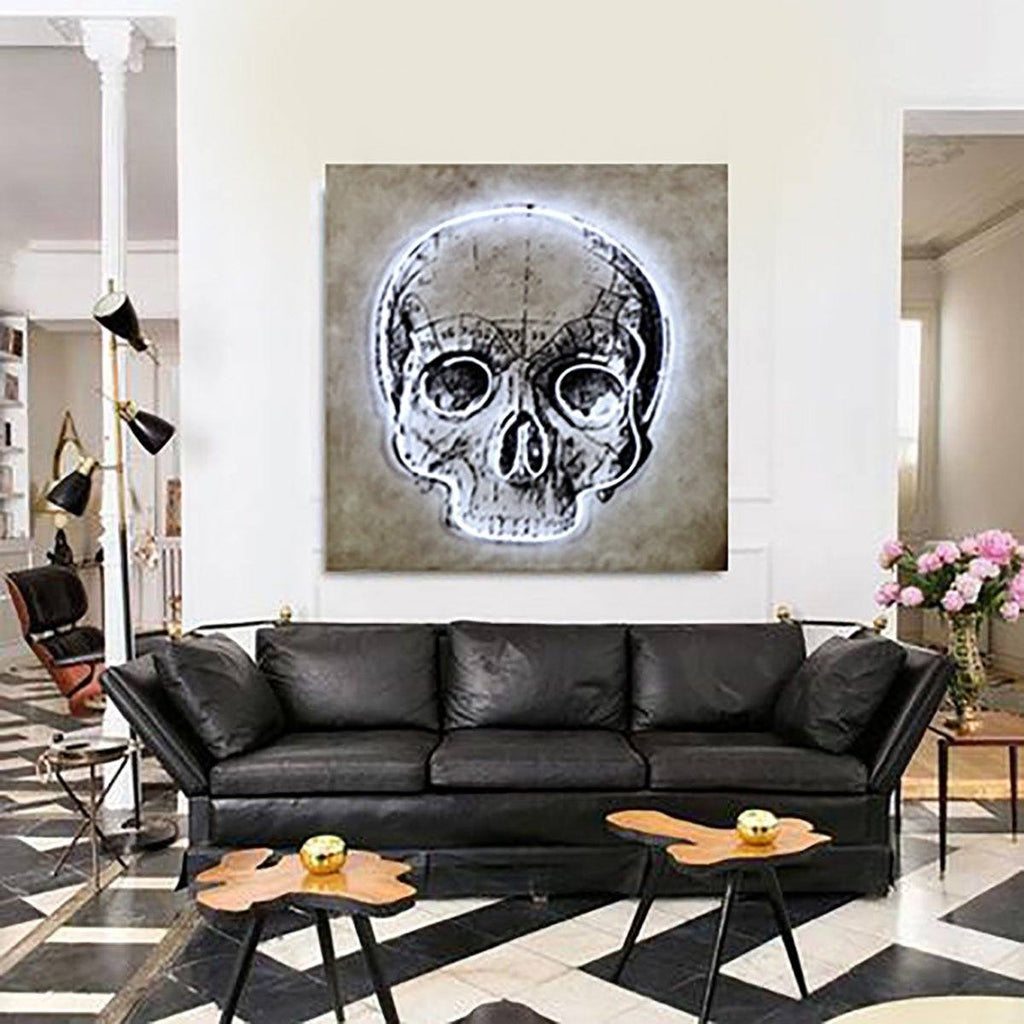 LED Neon Skull Wall Art