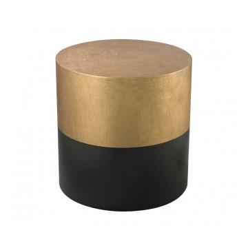 Draper Drum Side Table  Lazy Susan Side Table - 1
