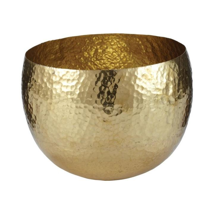 Gold Hammered Brass Bowl  Lazy Susan Bowls - 1