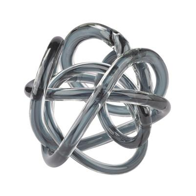 Grey Glass Knot Sculpture