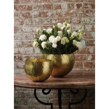 Gold Hammered Brass Bowl  Lazy Susan Bowls - 4