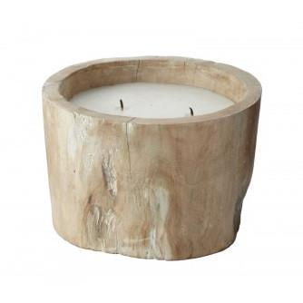White Pepper Log Candle  Lazy Susan Candles