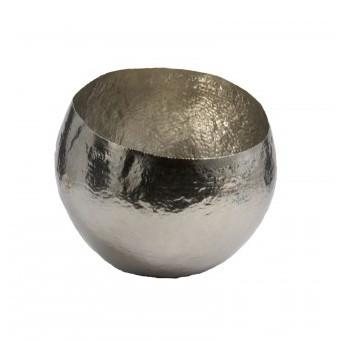 Silver Hammered Brass Bowl Small Lazy Susan Bowls - 1