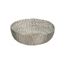 Twisted Silver Wire Bowl Large Lazy Susan Bowls - 1