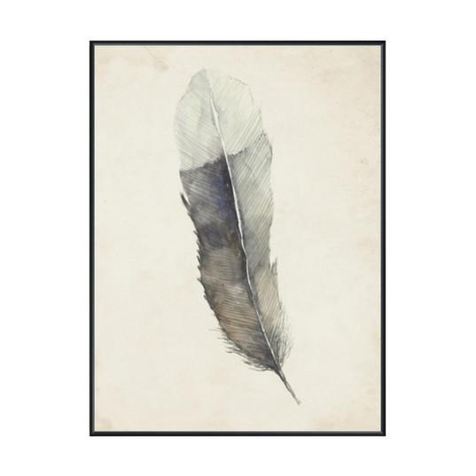 Charcoal Feather 2 Wall Art  Leftbank Art Wall Decor - 2