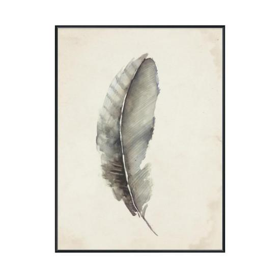 Charcoal Feather 3 Wall Art  Leftbank Art Wall Decor - 2