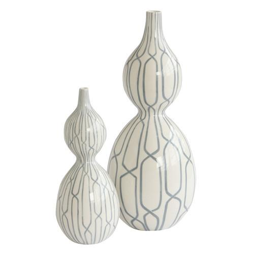 Linking Trellis Ceramic Vase Small Global Views Vase - 1
