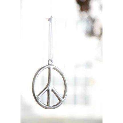 Peace Ornament: Silver  Lunares holiday