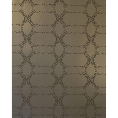 Elizabeth Geometric Wallpaper Gilded Chocolate Madison&Grow Wallpaper - 5