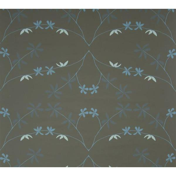 Eloise Flower Wallpaper Blues at Night Madison&Grow Wallpaper - 5