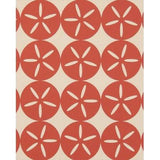 Maggie Geometric Circle Wallpaper Red Boat House Madison&Grow Wallpaper - 3