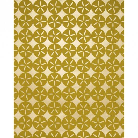 Maggie Geometric Circle Wallpaper Shimmering Dune Grass Madison&Grow Wallpaper - 1