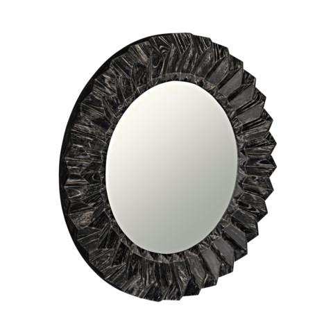 Constantine Stainless Steel and Leather Mirror