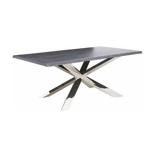 Couture Dining Table Large / Oxidized Grey/ Chrome NUEVO Tables - 4