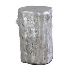 Metallic Resin Log Stool Silver Phillips Collection Stools - 2
