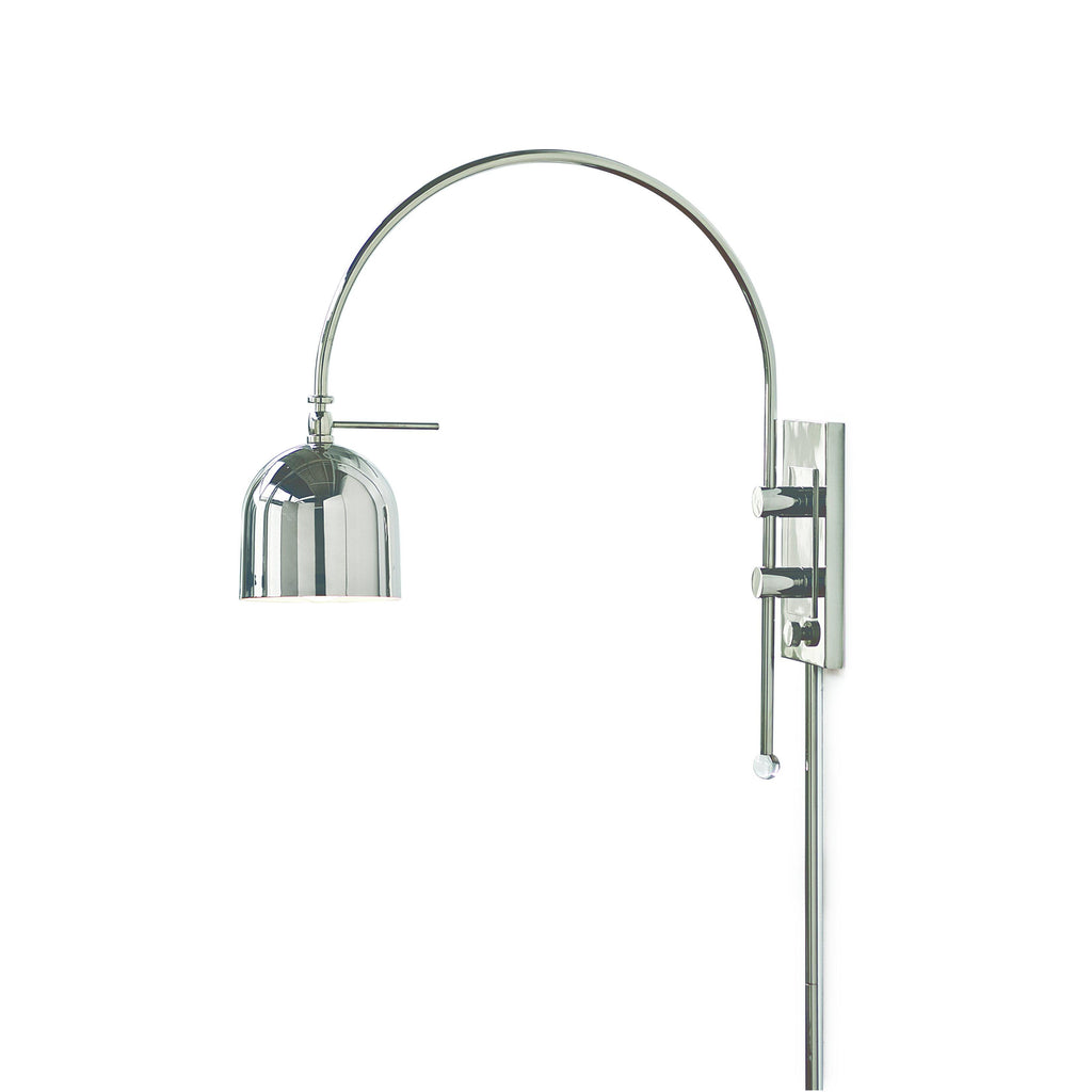 Chrome Arc Sconce Lighting Regina Andrews
