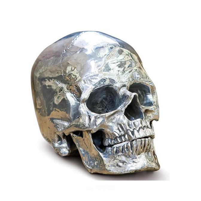 Metal Skull Sculpture  Regina Andrews Accessories - 1
