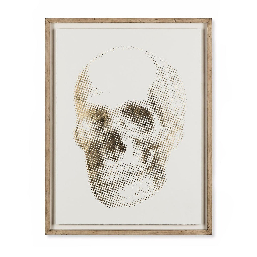 Gold Skeleton Skull Art Wall Art Resource Decor