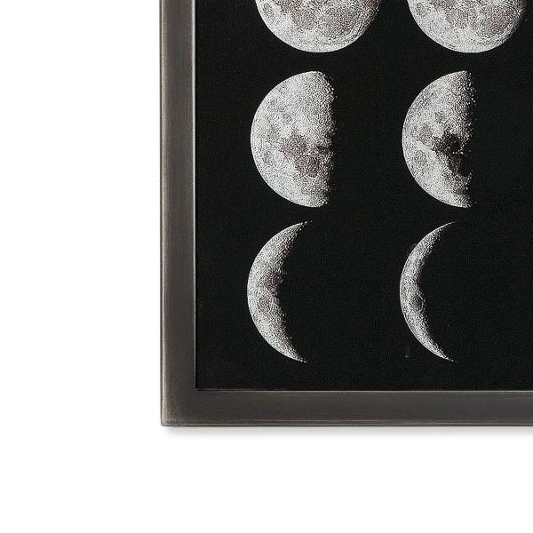 Silver Leaf Moon Phases Wall Art