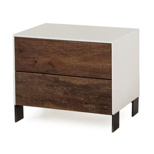Cardosa 2-Drawer Nightstand Side Table Resource Decor