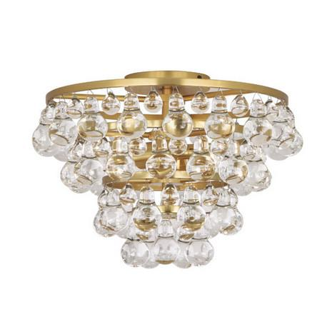 Bling Flushmount Lighting Robert Abbey Gold