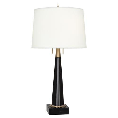 Florence Marble Table Lamp Table Lamp Robert Abbey Small Black/Brass