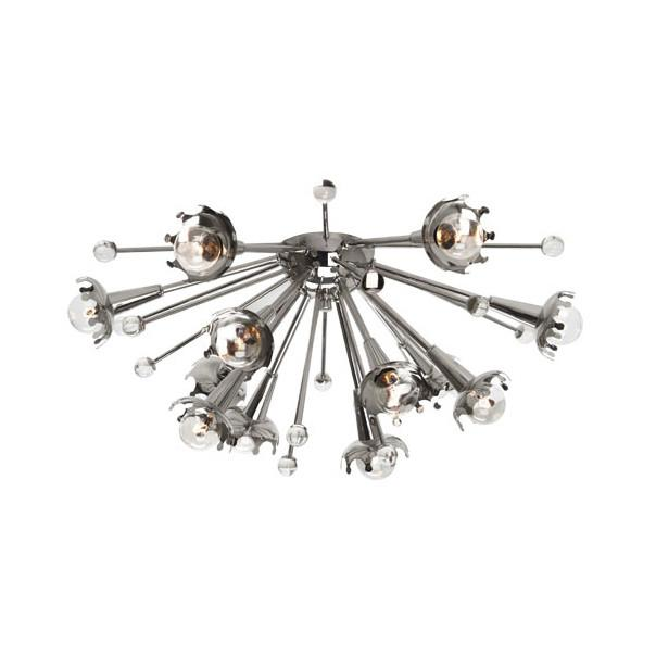 Jonathan Adler Sputnik Polished Nickel Finish Robert Abbey Lighting - 1