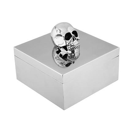 Chrome Skull Box Boxes Roberta Schilling