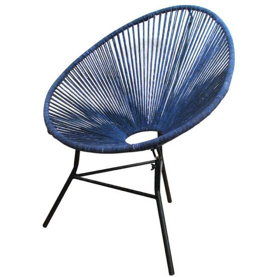 Ellipse Side Chair Indigo ROOST Chairs - 1
