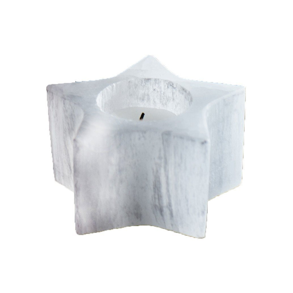 Selenite Star Tealight  ROOST candle holder - 1