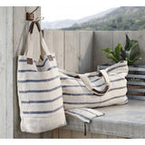 Washed Linen Striped Tote  ROOST tote - 1