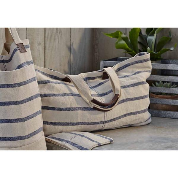 Washed Linen Striped Tote X-Large ROOST tote - 2