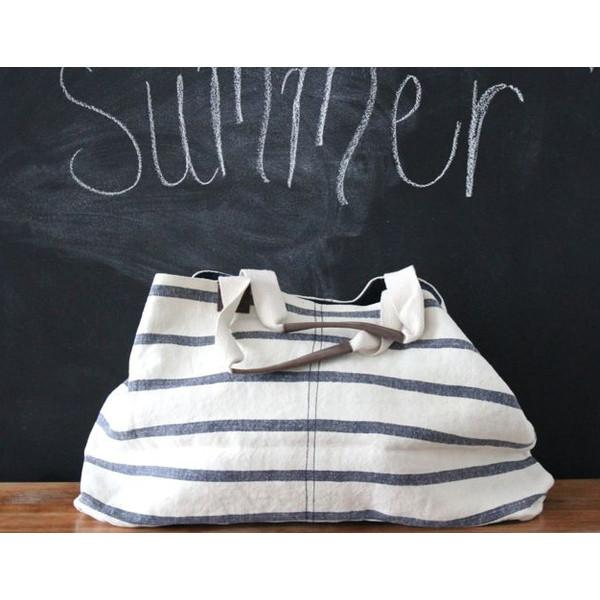 Washed Linen Striped Tote Large ROOST tote - 3