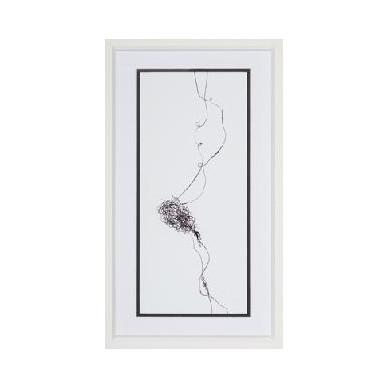 Black Brush Strokes Framed Wall Art