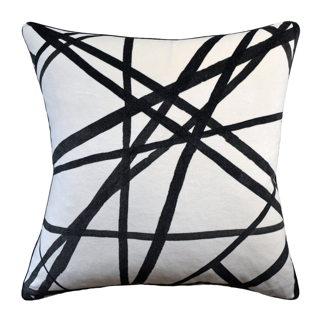 Channels Velvet PIllow pillow Ryan Studio Ivory