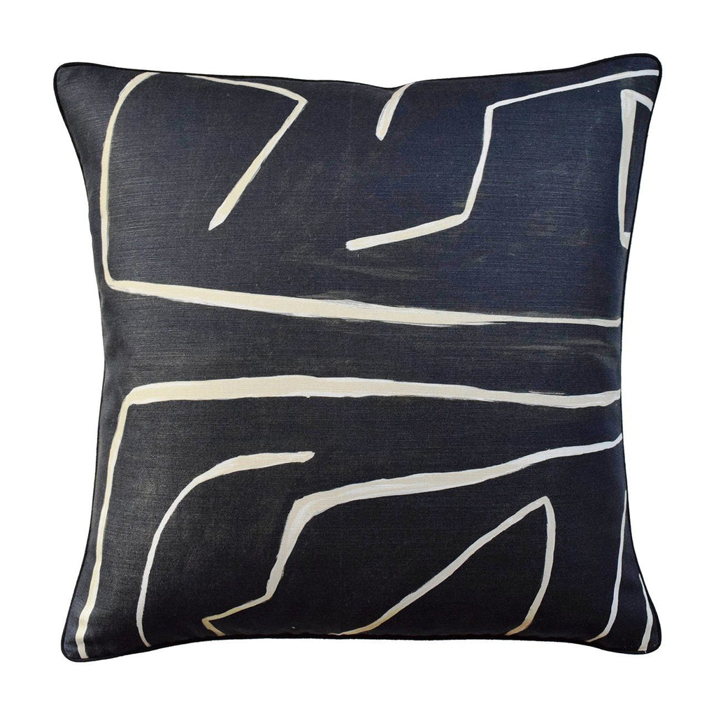 "Graffito Pillow Pillows Ryan Studio 22""x22"" Onyx"
