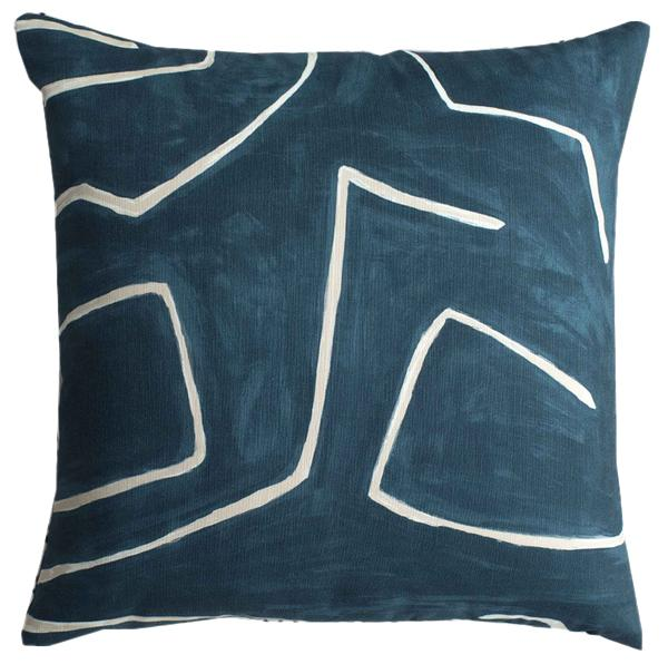 Grafitto Teal Pillow