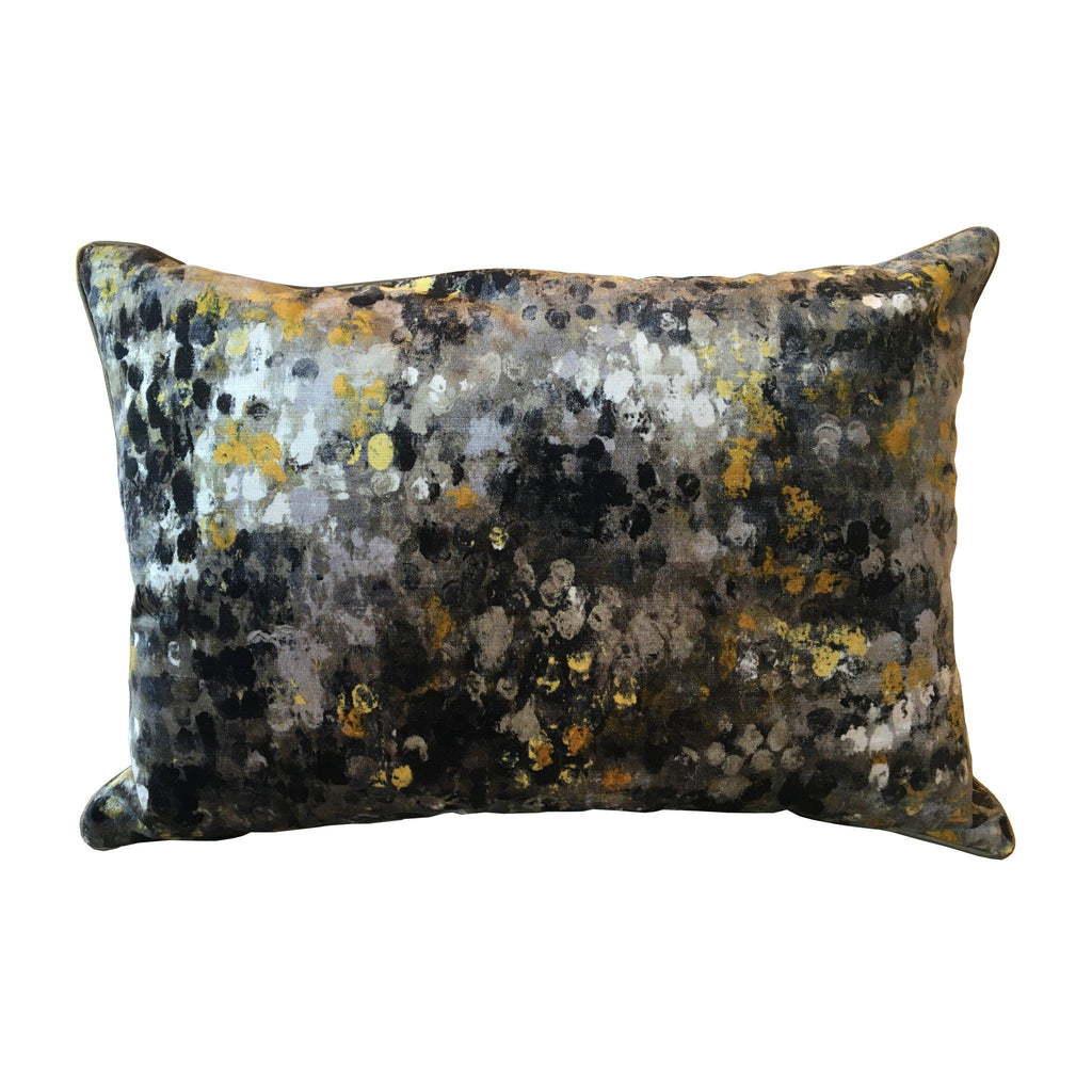 Painted Velvet Grey Pillow Pillows Ryan Studio