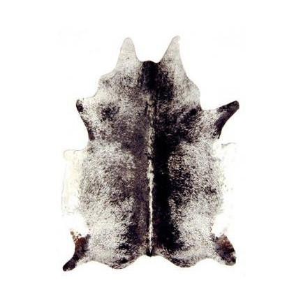 Salt and Pepper Cowhide Rug Black/White Salt & Pepper: XLarge Saddleman's of Santa Fe Rugs - 1