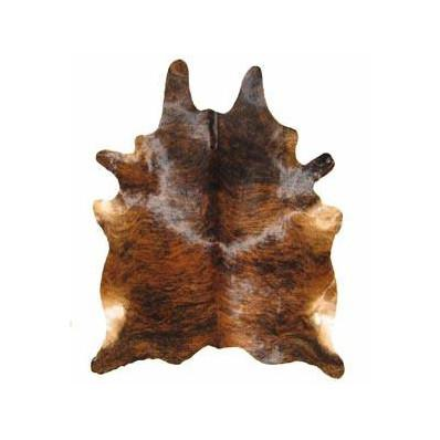Salt and Pepper Cowhide Rug Dark Brindle: XLarge Saddleman's of Santa Fe Rugs - 2