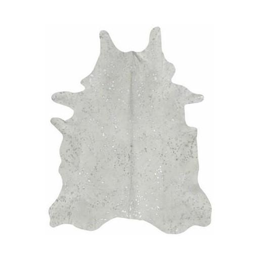 Silver Cowhide Rug  Saddleman's of Santa Fe Rugs
