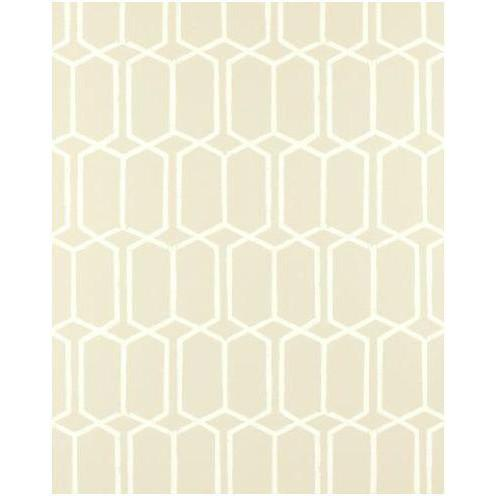 Modern Trellis Wallpaper Alabaster Schumacher Wallpaper - 1