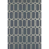 Modern Trellis Wallpaper Charcoal Metallic Schumacher Wallpaper - 4