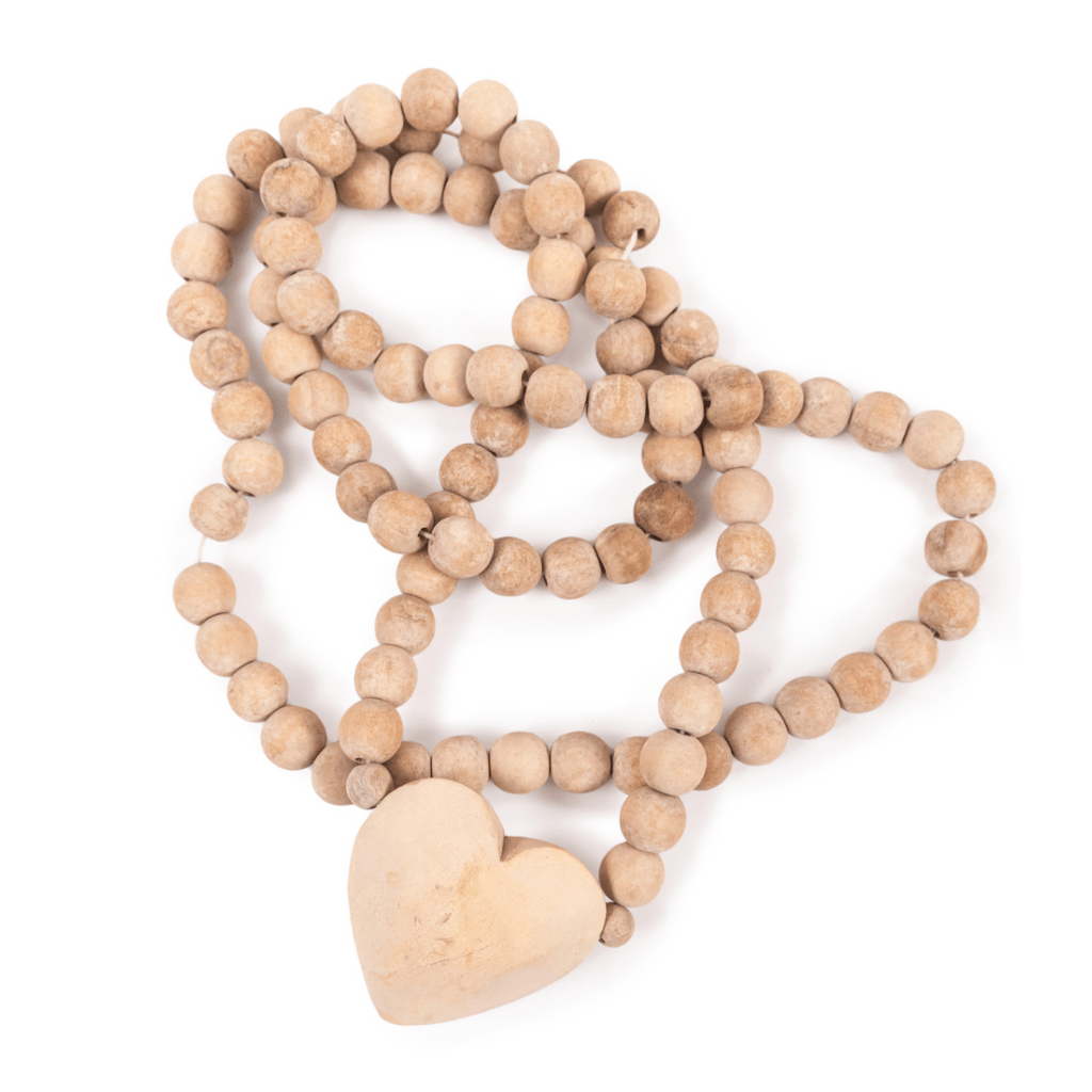 Wooden Heart Prayer Beads Accessories Sugarboo