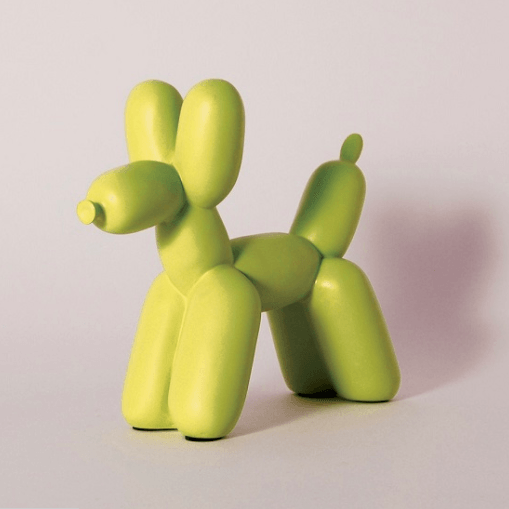 Ceramic Single Color Balloon Dog Bookend Accessories Imm Living Chartreuse