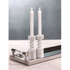 Tajah White Marble Candle Holder S/2