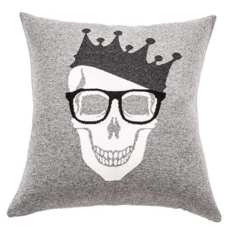 Skull Crown Cashmere Pillow