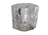 Log Side Table Silver Phillips Collection Side Table - 2