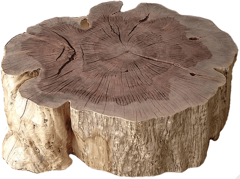 Rippled Teak Stool