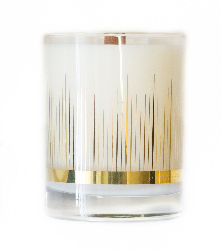 22K Gold Amber + Cardamom Scented Candle